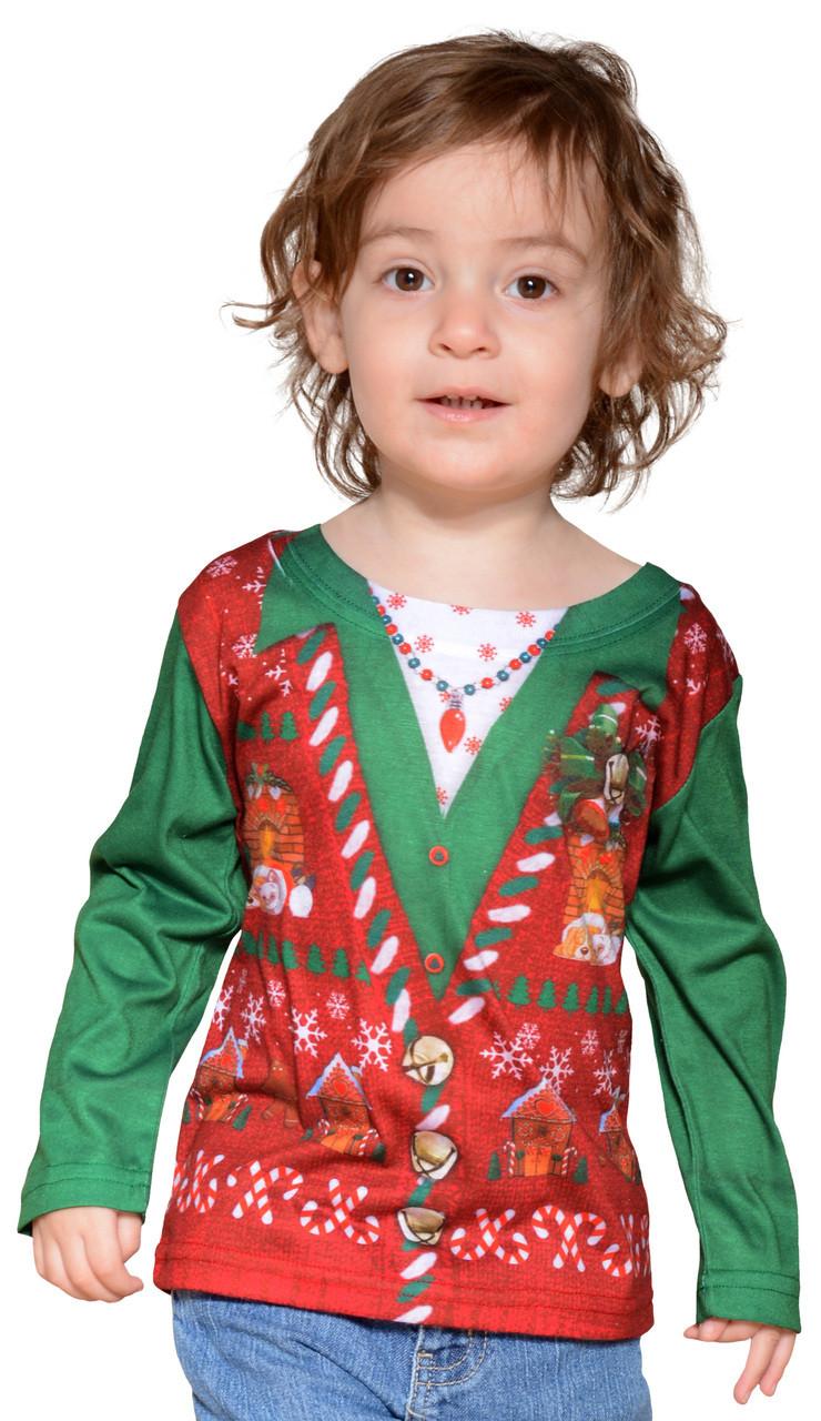 Christmas Vest.Toddler Ugly Christmas Vest T Shirt