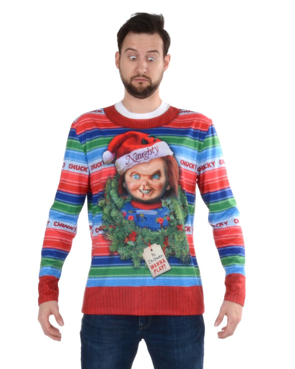 Ugly Christmas Sweater.Chucky Ugly Xmas Sweater