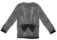 Faux Real Toddler Houndstooth Jacket - Back View