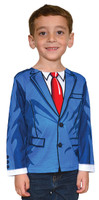 Faux Real Toddler Cartoon Suit - Model Front View