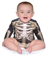 Faux Real Infant Skeleton Long Sleeve Romper