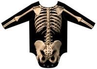 Infant Skeleton Long Sleeve Romper