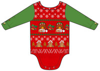 Infant Ugly Christmas Vest Romper - Back View