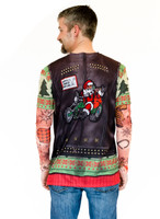 Xmas Biker Sweater w/ Tattoos