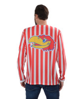 University of Kansas Striped Suit Tee