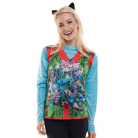 Cat Trapped Ugly Christmas Sweater