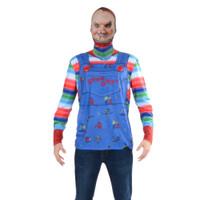 Chucky Mask/Tee Costume Combo