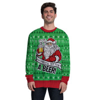 Santa Beer Sweater Tee