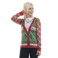 Ladies Family Xmas Long Sleeve Shirt