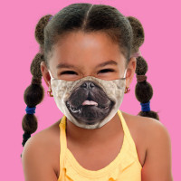 Youth Pug Life Face Mask