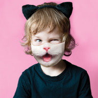 Youth Kitty Cat Face Mask