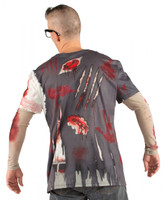 Faux Real Zombie Costume Back View