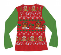 Ladies Ugly Christmas Vest - Back