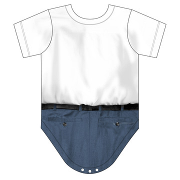 Faux Real Infant Nerd Romper - Back