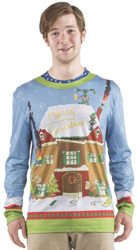 Faux Real Elves Gone Wild Sweater T-Shirt - Front View
