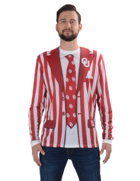 Oklahoma Sooners Striped Suit Tee