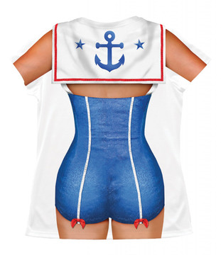 Sailor Girl Back View