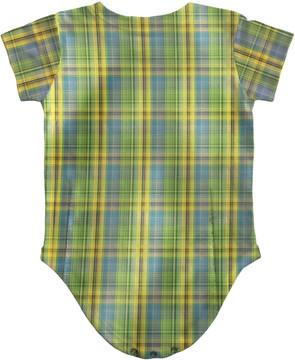 Infant Plaid Suit Romper Back View