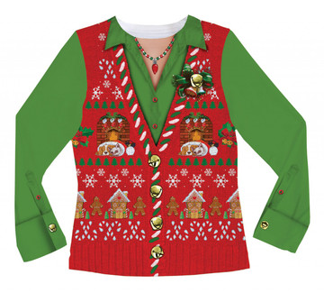Ladies Ugly Christmas Vest - Front