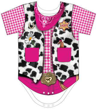 Faux Real Infant Cowgirl Romper - Front