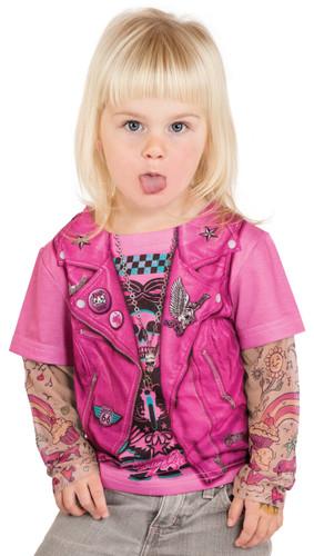 Toddler Pink Biker Girl