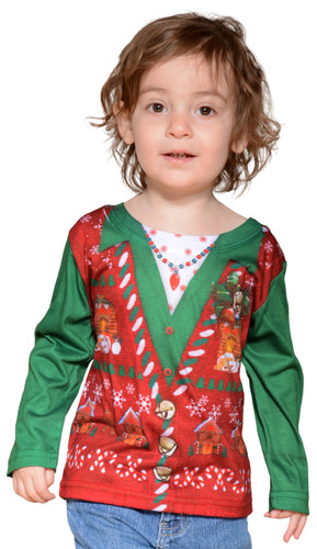 Toddler Ugly Christmas Vest T-Shirt