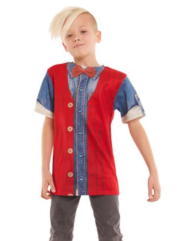 Youth Hipster Cardigan & Denim Shirt Tee