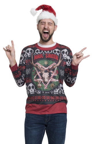 Hail Santa Ugly Sweater Tee