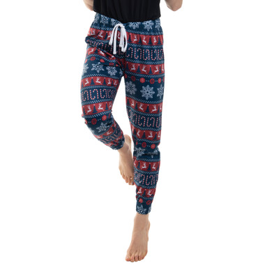 Ladies Xmas Pattern Joggers