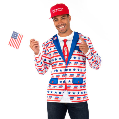 Republican Elephant Suit Tee