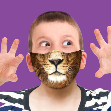Youth Lion Face Mask