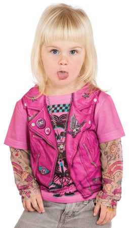 Toddler Pink Biker Girl