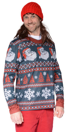 Santa Stripe Sweater T-Shirt