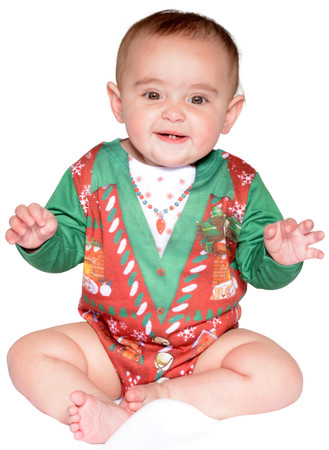 Infant Ugly Christmas Vest Romper