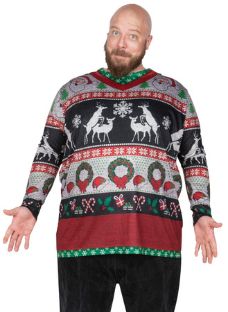 Big Size Frisky Deer Sweater