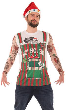 Xmas Stripe Overalls & Tattoos