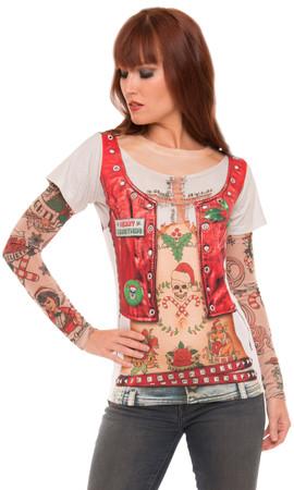 Ladies Xmas with Tattoo Sleeves