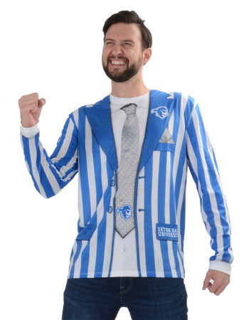 Seton Hall Pirates Striped Suit Tee