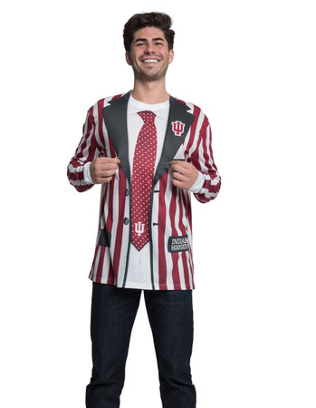 Indiana Hoosiers Striped Suit Tee