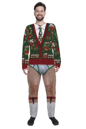 Xmas Cardigan Jumpsuit