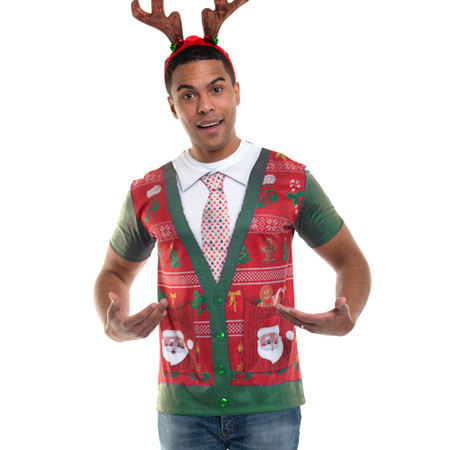 Short Sleeve Ugly Xmas Cardigan