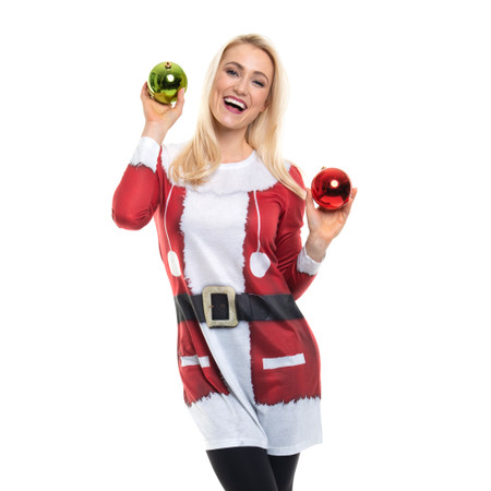 Santa Long Sleeve Dress