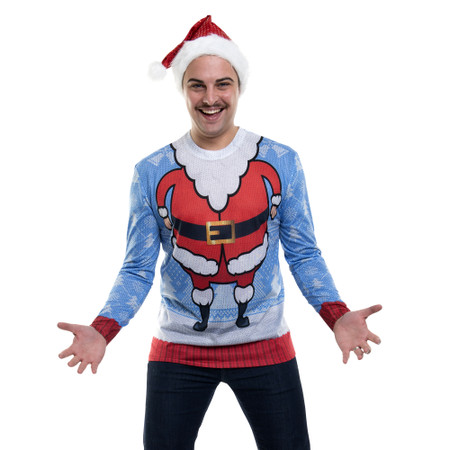 Santa Head Sweater Tee