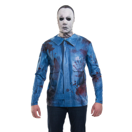 Michael Myers Mask/Tee Costume Combo