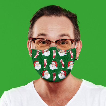 Santa Stockings Face Mask