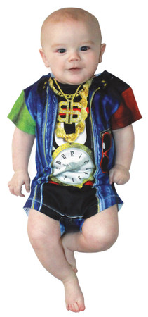 Infant Old School Rapper Romper