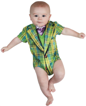 Infant Plaid Suit Romper