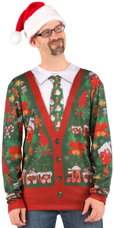 Ugly Christmas Cardigan T-Shirt