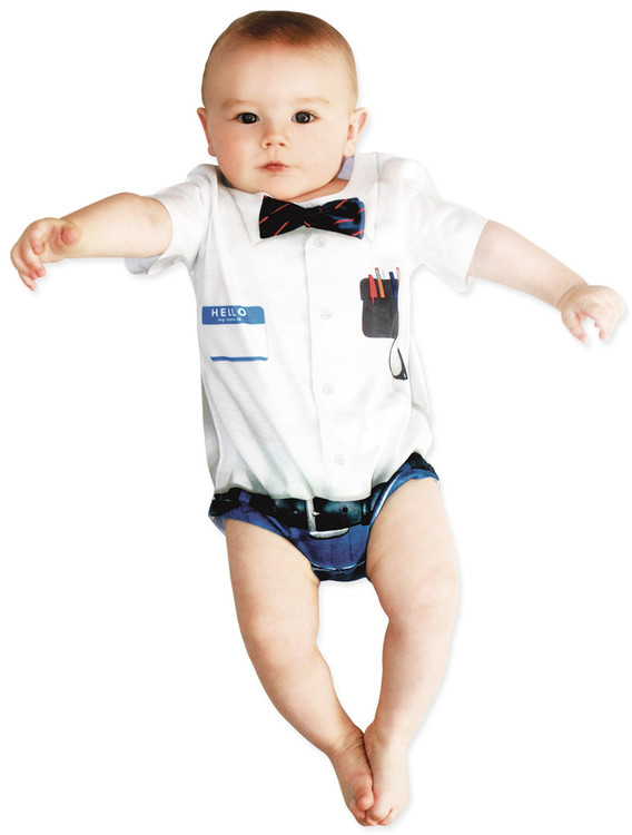 Faux Real Infant Nerd Romper