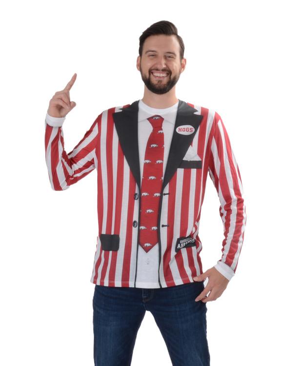 Arkansas Razorback Striped Suit Tee